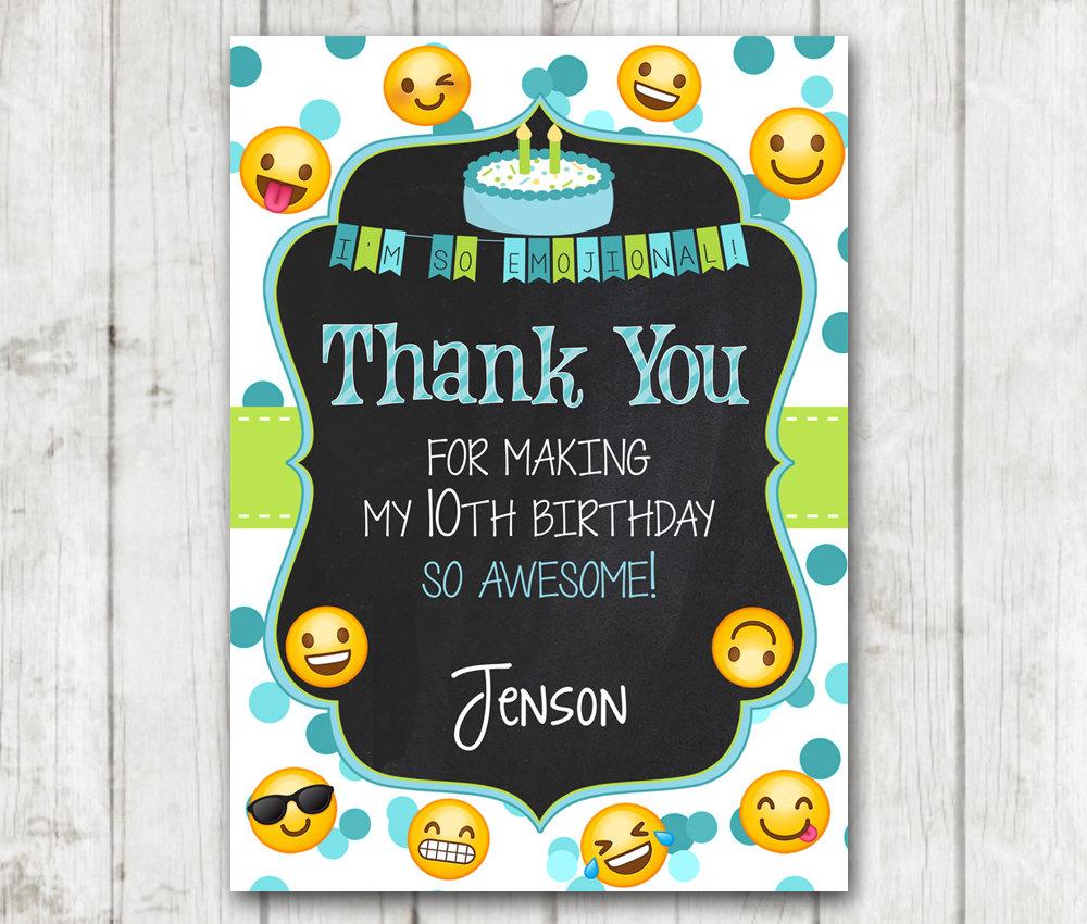 printable emoji thank you cards emoji chalkboard thank you card