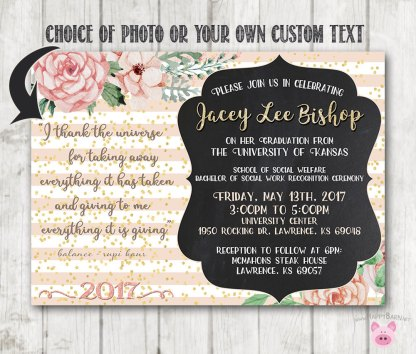 Printable graduation invitations floral graduation invites happy barn printable graduation invitations floral graduation invites filmwisefo