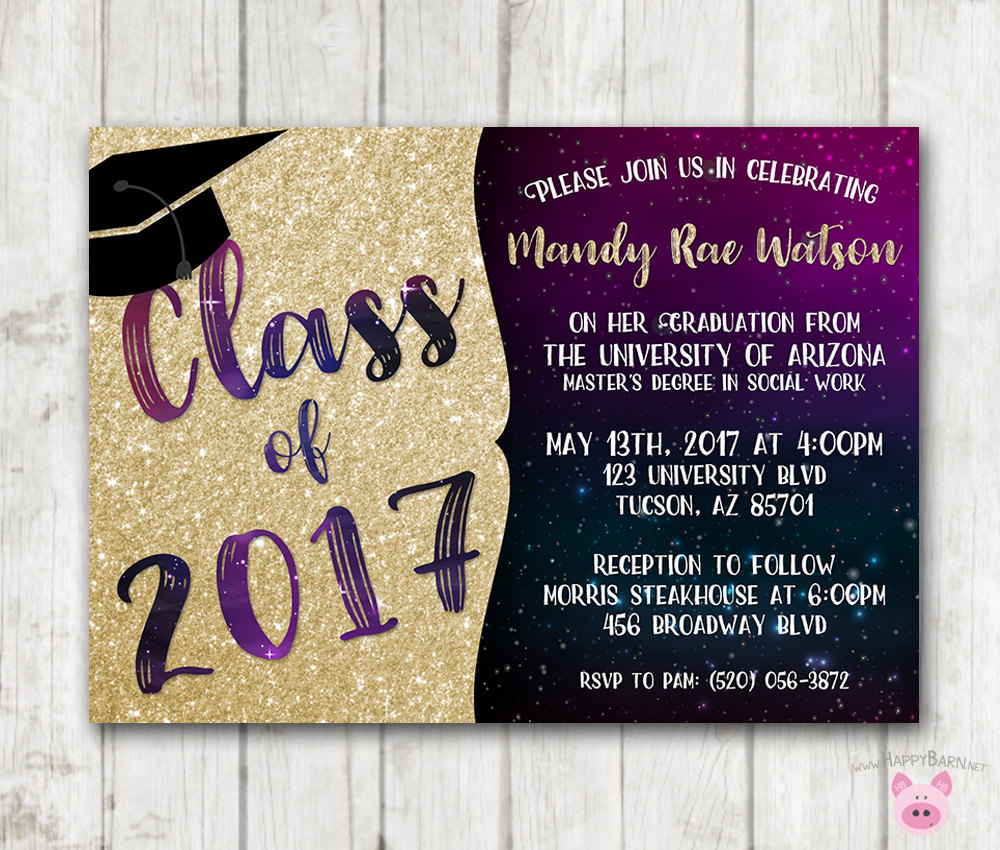 It is a picture of Ambitious Printable Graduation Invitations