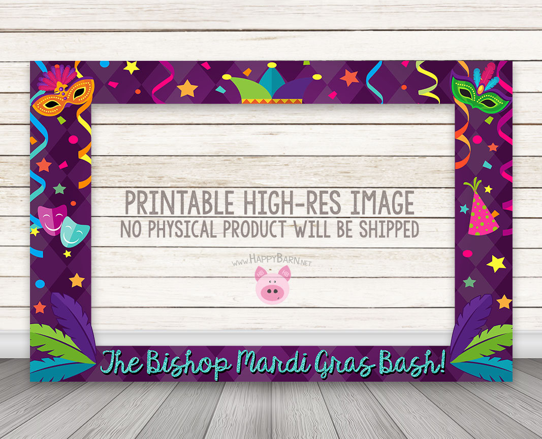 PRINTABLE Mardi Gras Photo Booth Frame – Happy Barn