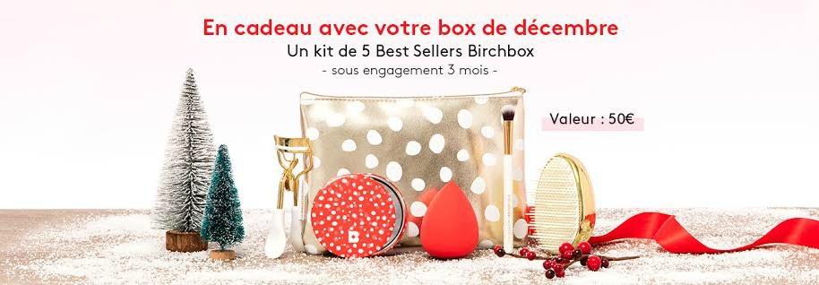 Birchbox de décembre, une box pétillante pour Noël !