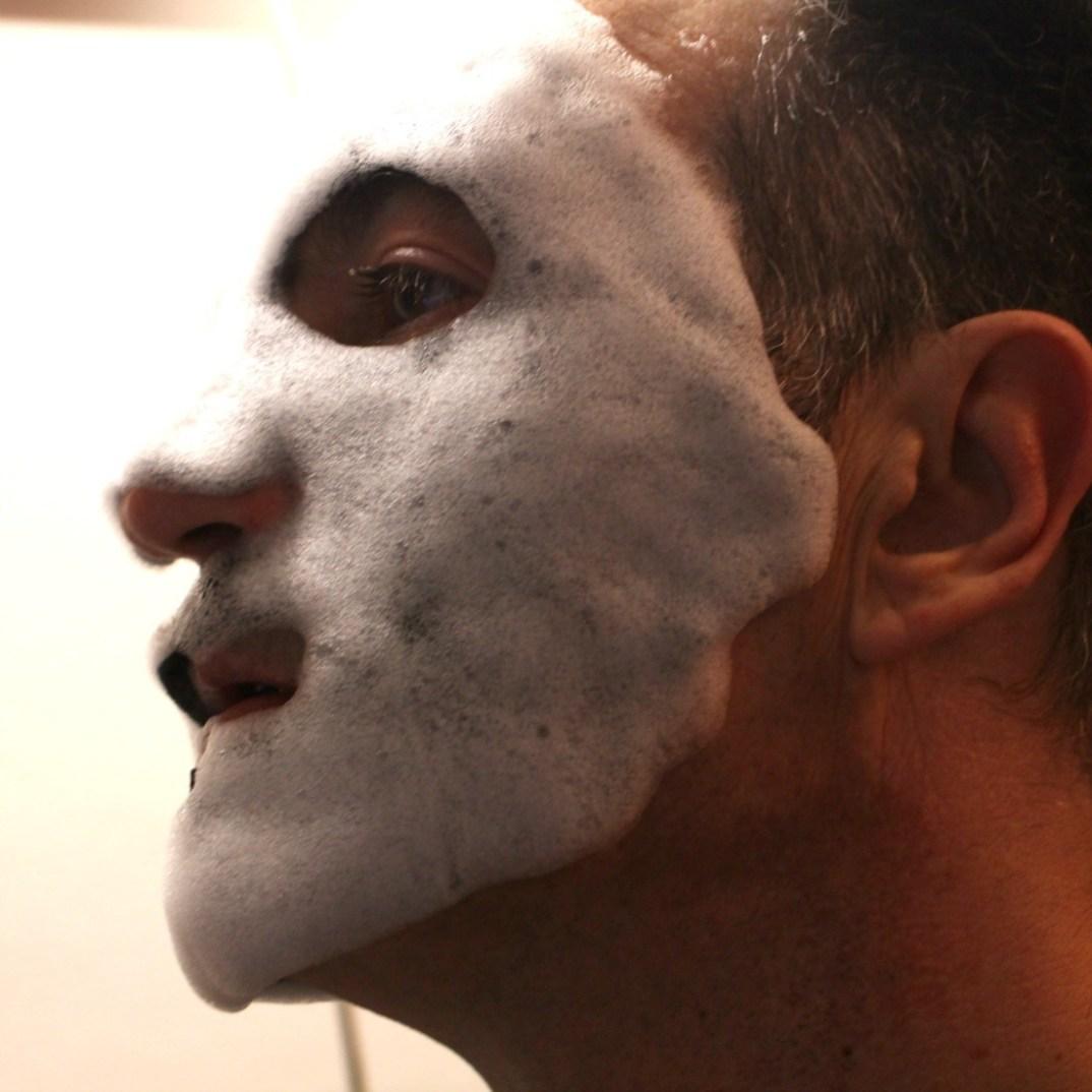 masque visage mousse