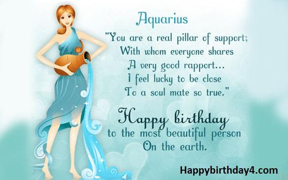 Aquarius Happy Birthday Wishes