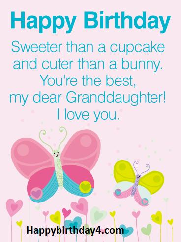 Birthday Granddaughter