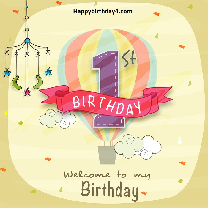 First One Year Old Birthday Wishes And Cute Baby Messages