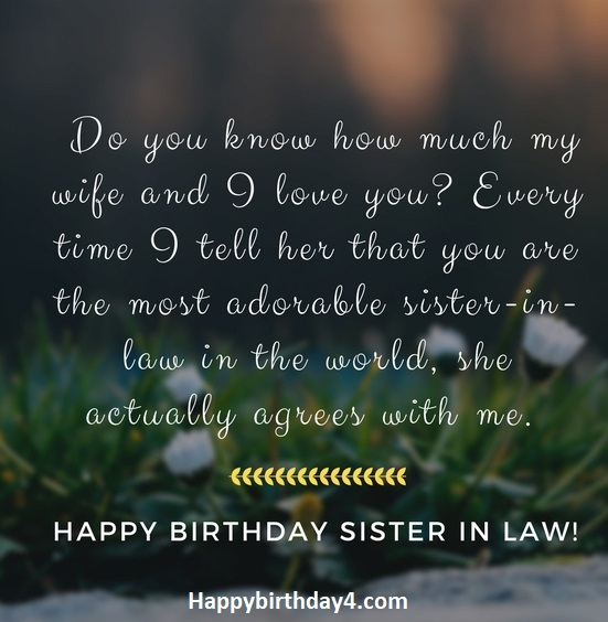 100 Happy Birthday Wishes For Sister In Law Happy Birthday