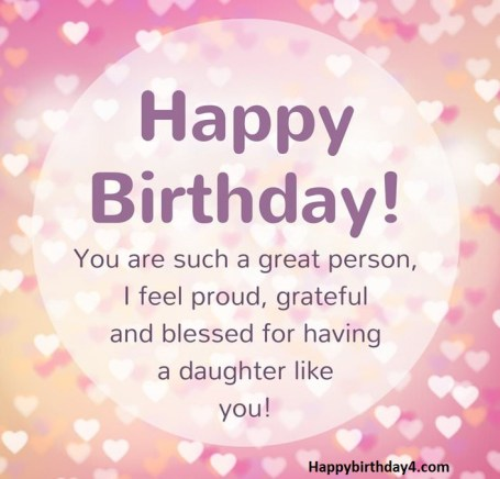 Birthday Wishes For Daughter – Wish Your Daughter a Happy Birthday