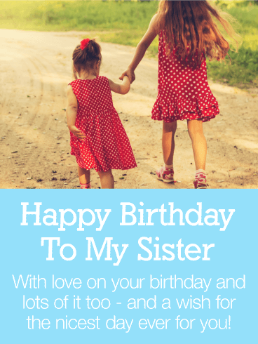 Happy Birthday Wishes For A Sister