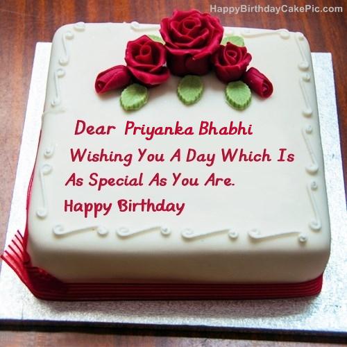 Priyanka Name Birthday Cake