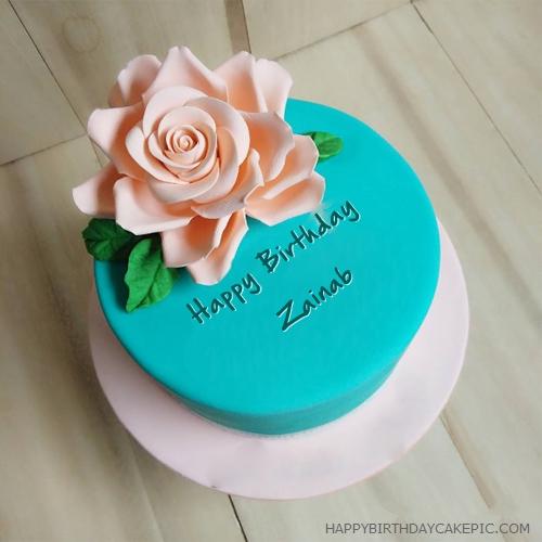 ️ Beautiful Best Birthday Cake For Zainab