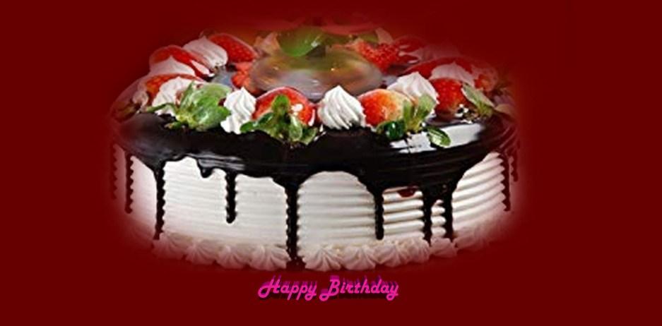 Happy Birthday Cake Image Red Colour