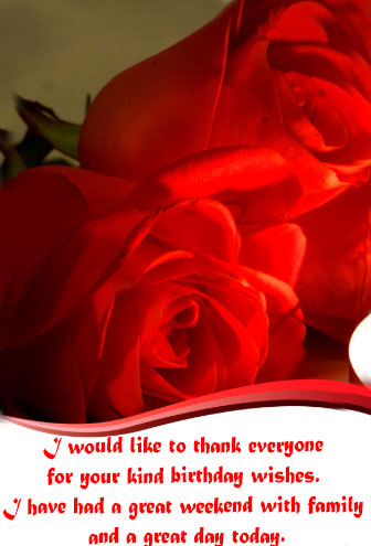 Thank you message for birthday wishes - Happy Birthday IMG