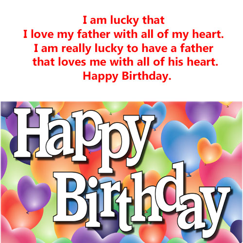 Birthday messages for Father Dad papa on his birthday with images