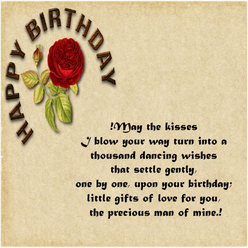 Short Romantic Birthday Wishes For Boyfriend Lover