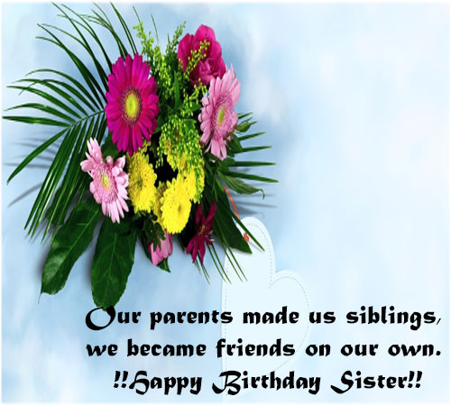Happy Birthday Sister Images for whatsapp