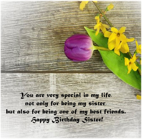 Happy Birthday Sister Images and quotes messages for facebook share