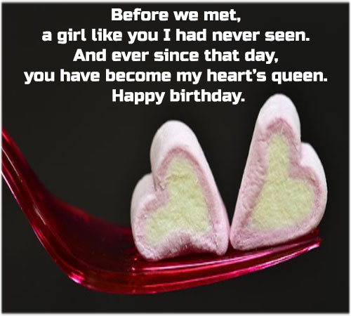 Birthday images for girlfriend with sms for facebook