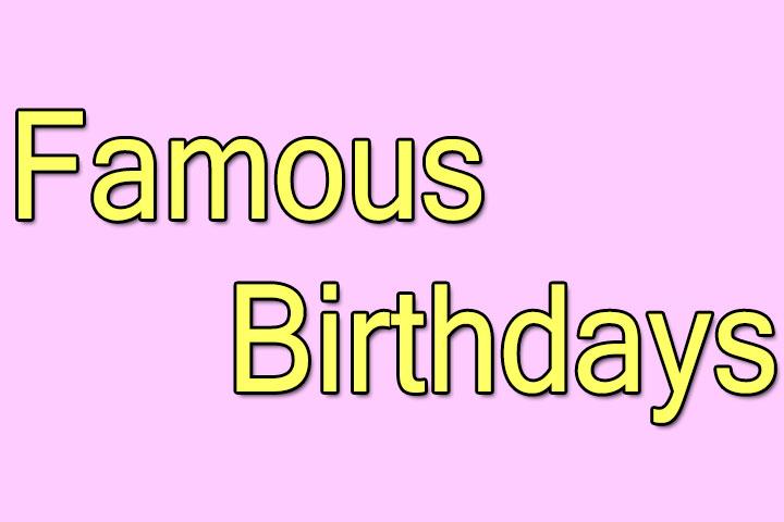 famous Birthdays calendar