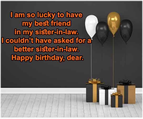 Best Birthday Wishes For Sister In Law