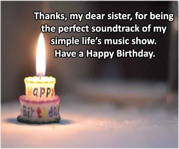 Whatsapp Status birthday wishes for sister
