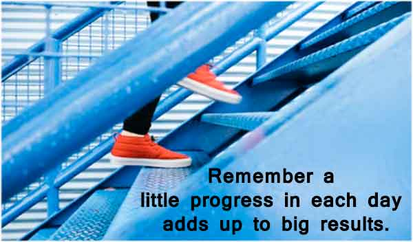 Progress Quotes - Remember a little progress in each day adds up to big results.