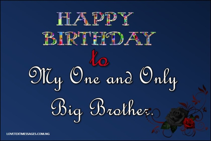 Happy Birthday Wishes for Elder Brother