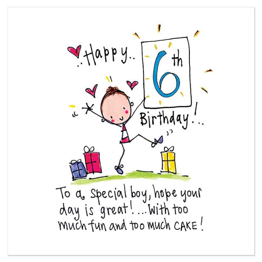 6 Year Old Birthday Message