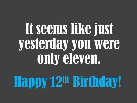 Happy 12th Birthday Birthday Wishes Images Messages Greetings