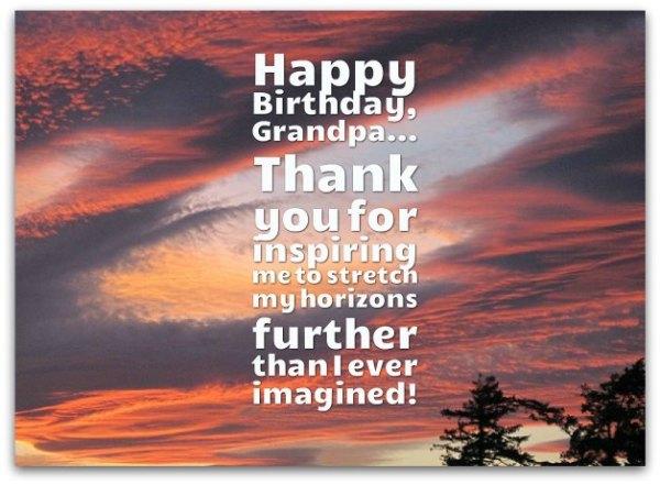 Grandpa Birthday Quotes - Happy Birthday Grandpa Wishes