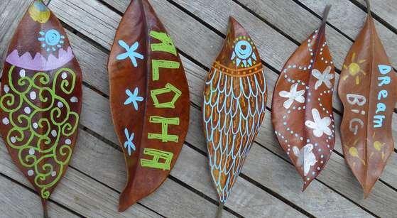 feuilles décorées 7