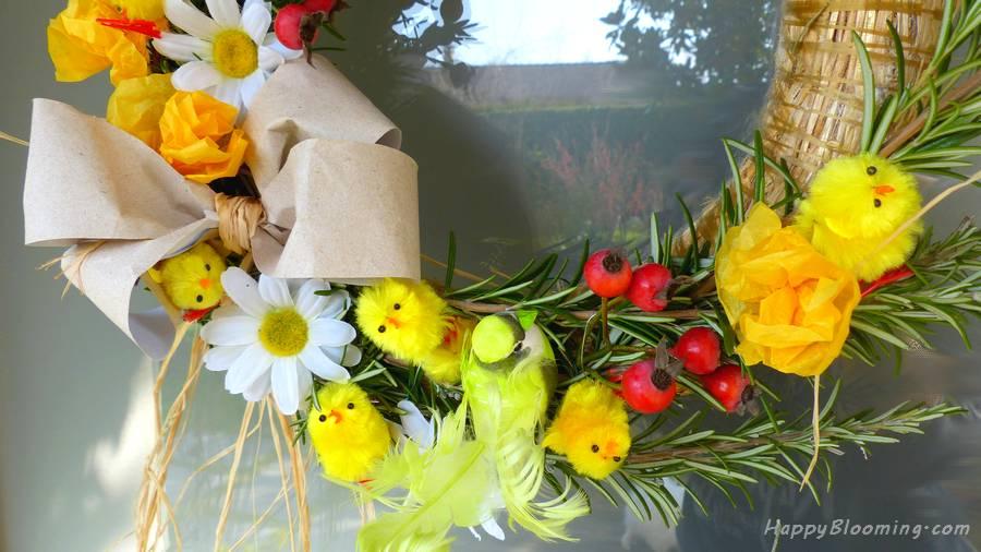Couronne de Pâques - DIY - Couronne de printemps