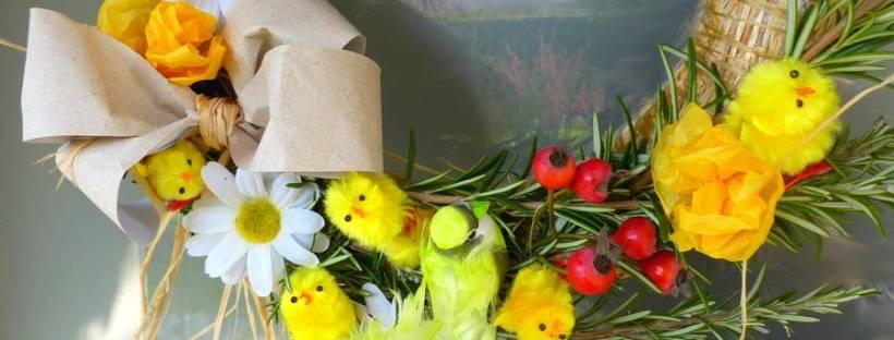 couronne de pâques, diy, printemps, déco