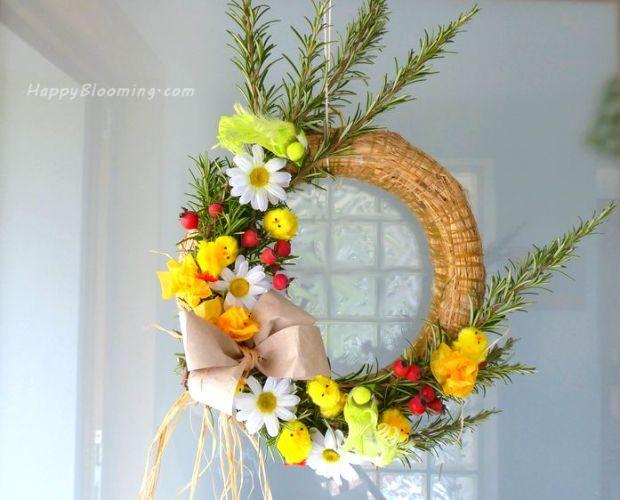 couronne pâques, printemps, diy, déco