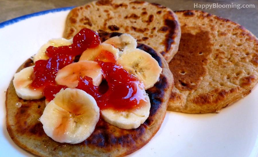 les pancakes de PetitMari - protéinés et vegan