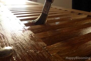 table basse recyclée unique vintage volet roulettes diy