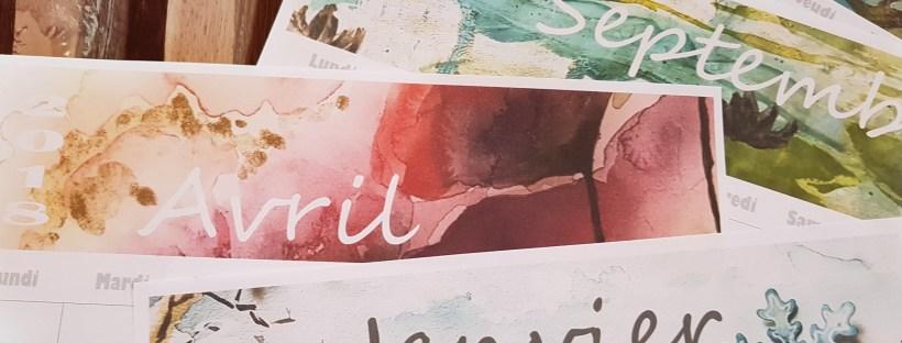 calendrier mensuel 2018 aquarelle pdf imprimable