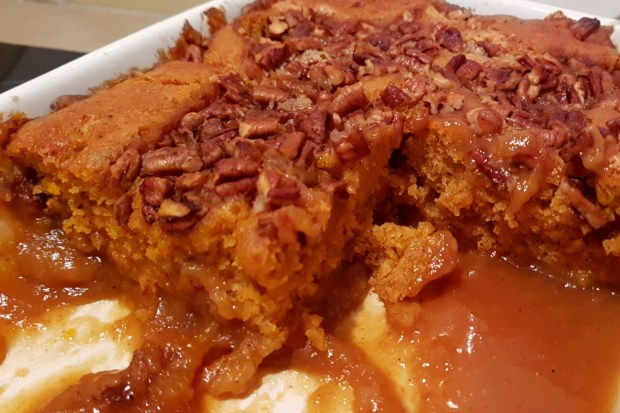Gooey cake potimarron noix pécan caramel