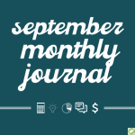 September monthly journal