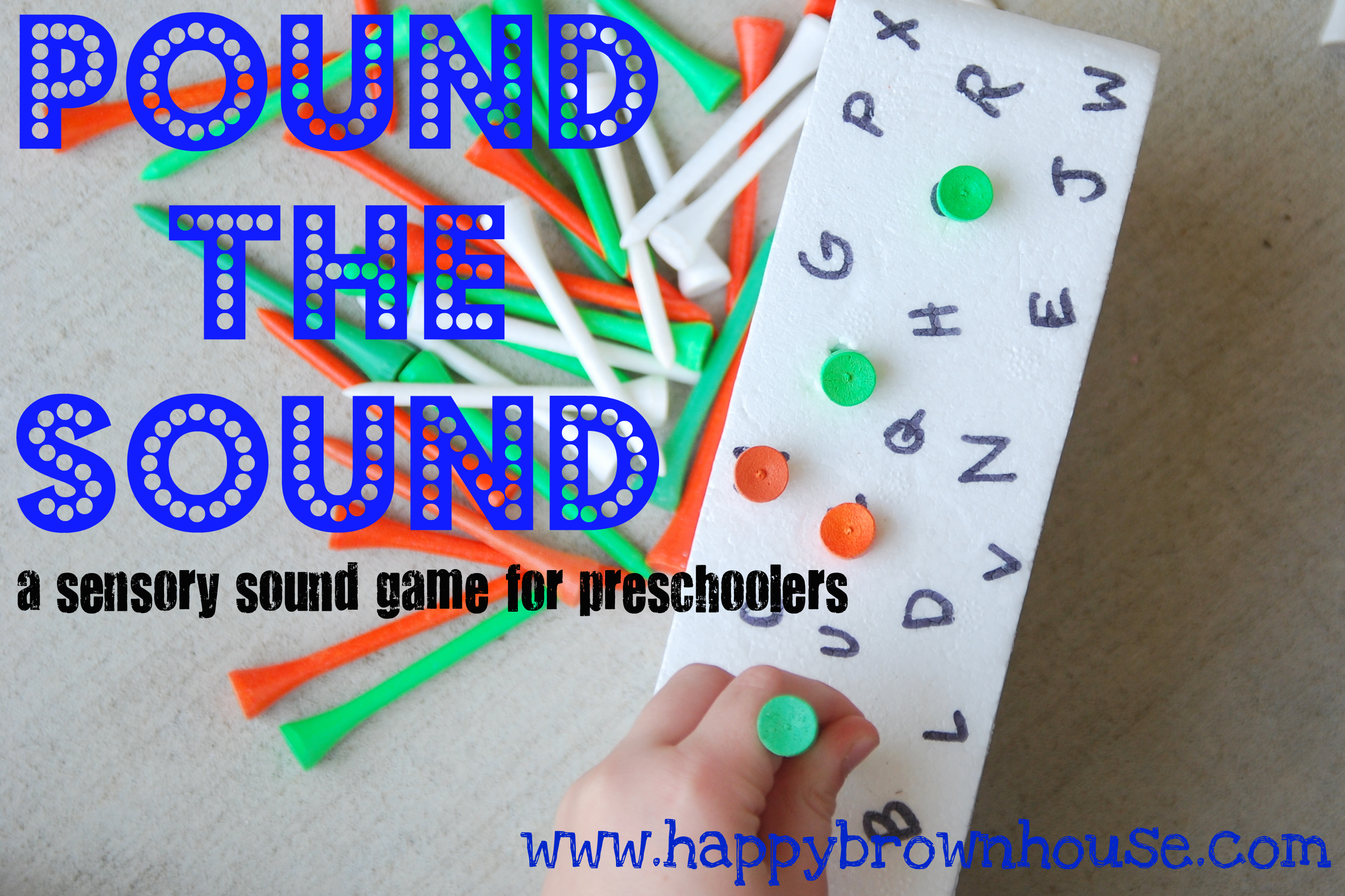 Pound The Sound A Sensory Sound Game For Preschoolers