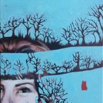 "Reflector Staff 1965, oil on canvas, 9x12,"" 2015"