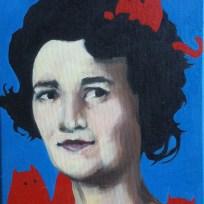 "7th Grade History 1964, oil on canvas, 9x12,"" 2015"
