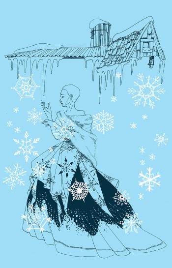 Illustration for the Music Box Village Winter Ball. 2018