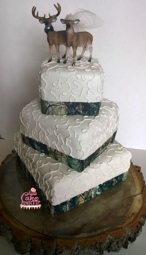 Deer And Camo Wedding Cake Happy Cake Baker