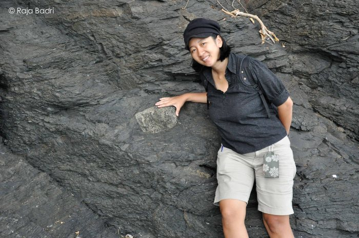 This is me with the 1 billion years old dropstone.