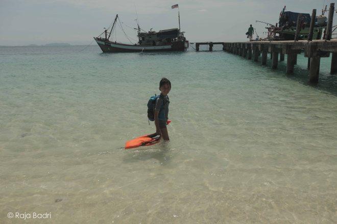 The fisherman jetty at Teluk KK