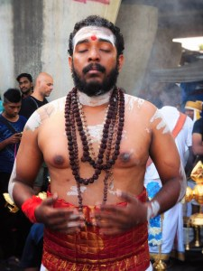 A devotee in trance