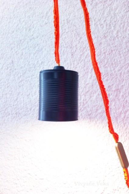DIY lampe avec boîte de conserve et crochet-Upcycled can-Vivyane Veka