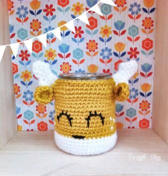 Cache-pot au crochet-Vivyane Veka