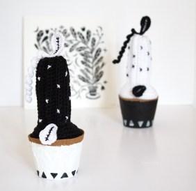 DIY Cactus Noir et Blanc au Crochet