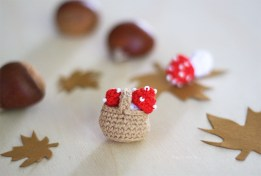Mini champignons crochet HappyCrochet Etc